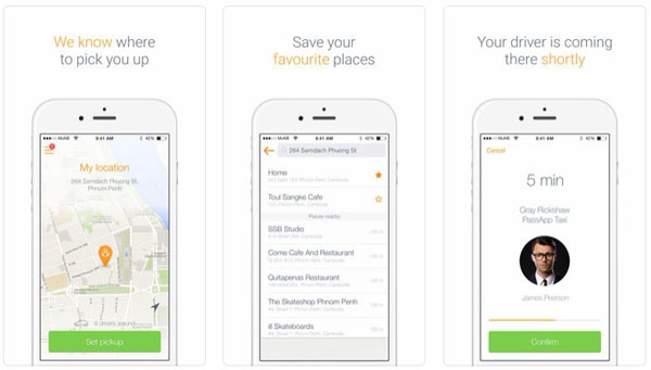 Ứng dụng du lịch Campuchia: PassApp Taxi in Cambodia