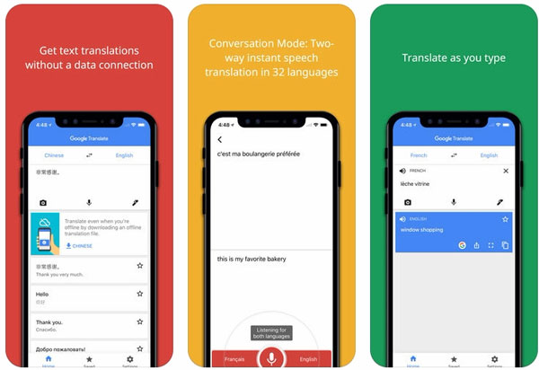 App Google Translate (Google dịch)