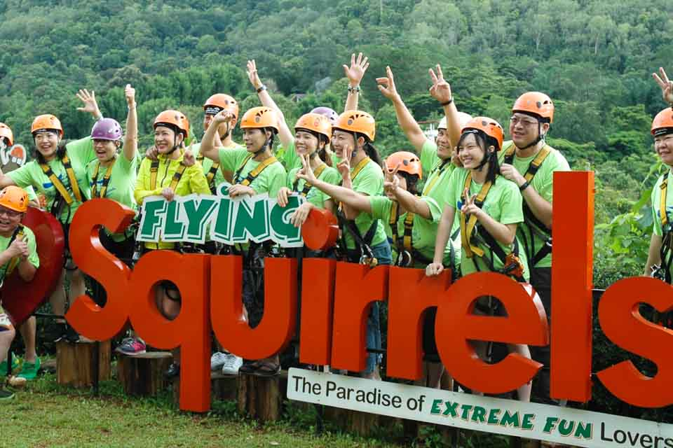 Tour đu dây Flying Squirrels By The Flights Chiang Mai