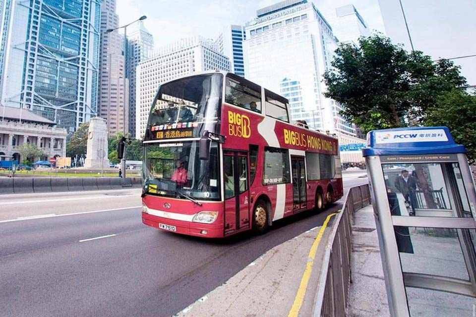 Vé xe bus hop on hop off Hong Kong (Big Bus Tours)
