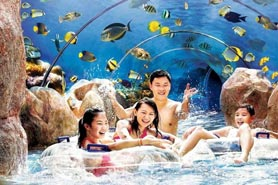 Vé tham quan Adventure Cove Waterpark Singapore